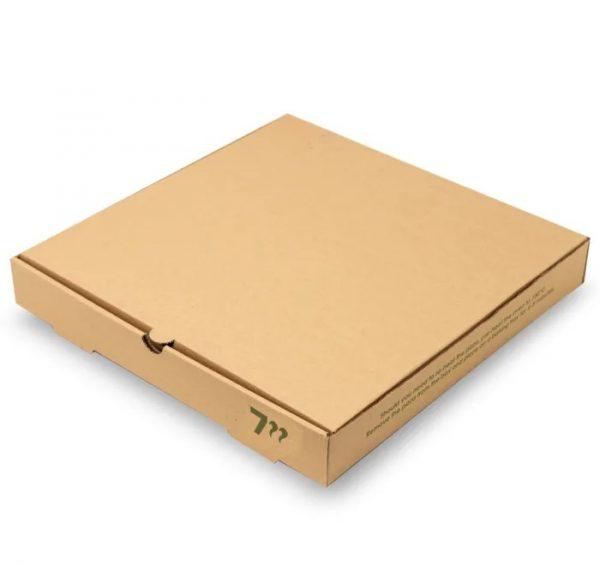 "Compostable 7"" Kraft Pizza Box"
