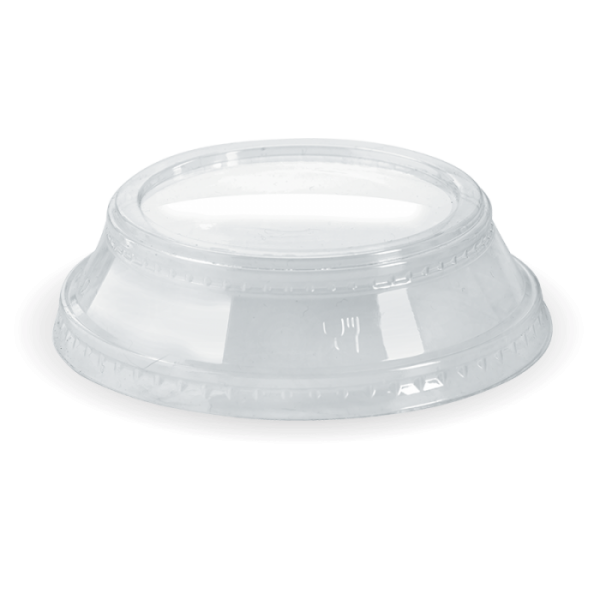 Compostable Clear Dome Lid No Hole