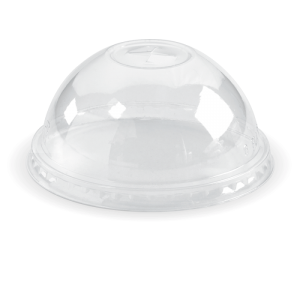 Compostable Clear Dome Lid Cross Open