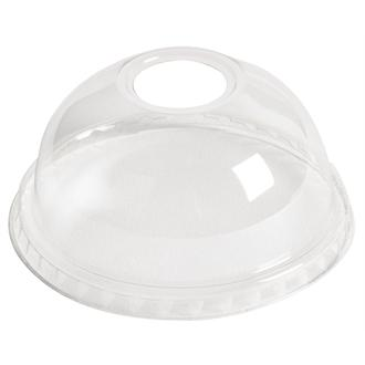 Compostable Clear Dome Lid With 22mm Hole