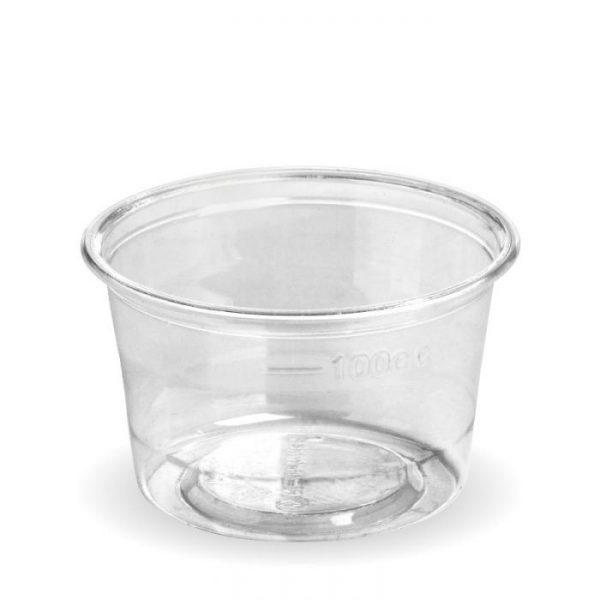 Compostable 4oz PLA Clear Sauce Pot 140ml