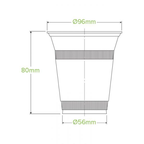 Compostable Clear Disposable Cup 12oz / 360ml