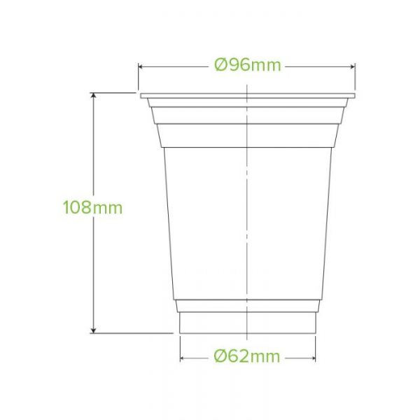 Compostable Clear Disposable Cup 14oz / 420ml