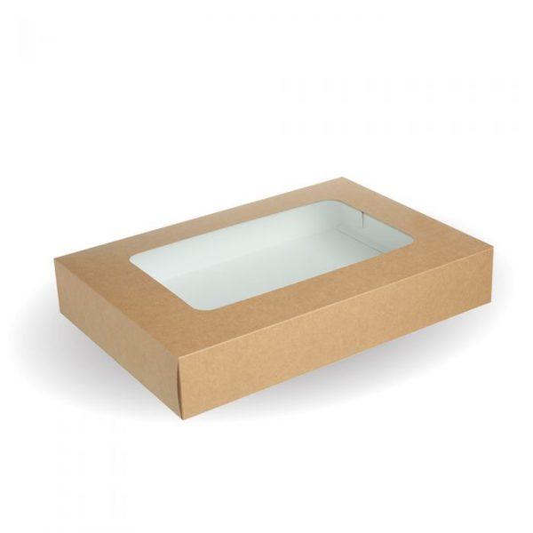 Compostable Small Kraft Platter Box Set - 310 x 225 x 80mm - Pack 25