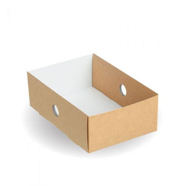 Compostable Quarter Insert For Large Kraft Platter Box
