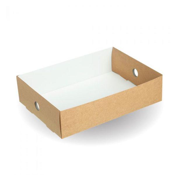 Compostable Half Insert For Large Kraft Platter Box