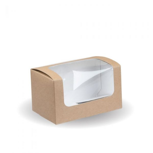 Compostable Kraft Square Cut Sandwich Box