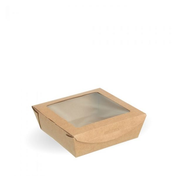Compostable Medium Kraft Salad Box Tuck Top Box