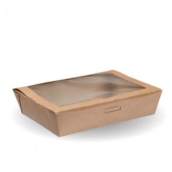 Compostable Large Kraft Salad Box Tuck Top Box