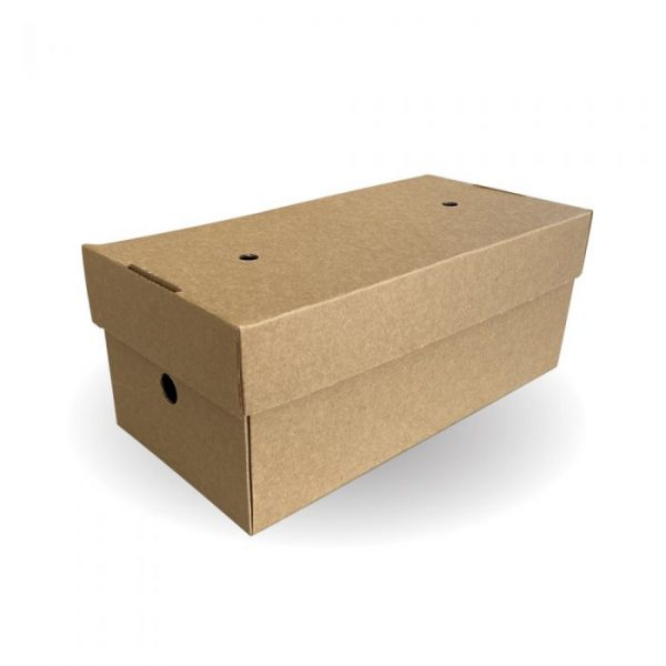 Compostable Premium Delivery Large Burger Box 240x122mm Biodegradable