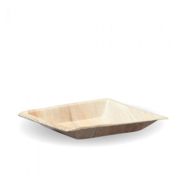 Compostable 17cm Square Palm Leaf Plate