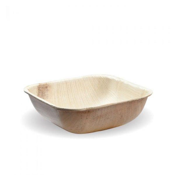 Compostable 10cm Square Deep Palm Leaf Bowl