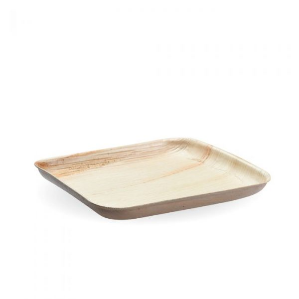 Compostable 20cm Square Palm Leaf Plate