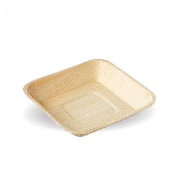Compostable 24cm Square Palm Leaf Plate