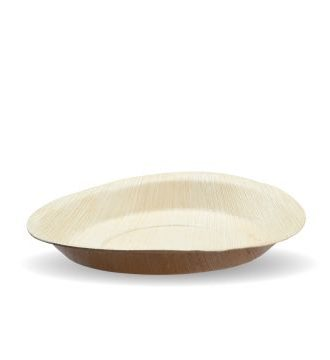 Compostable 20cm Round Palm Leaf Plate