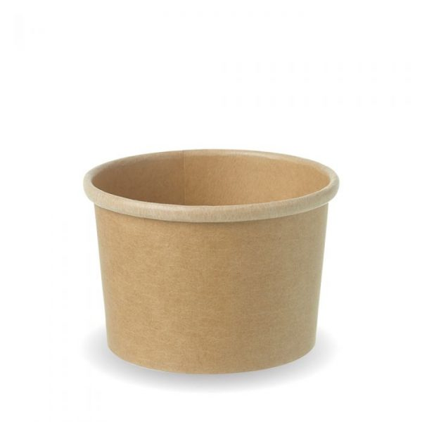 Compostable Kraft 8oz Squat Soup Container