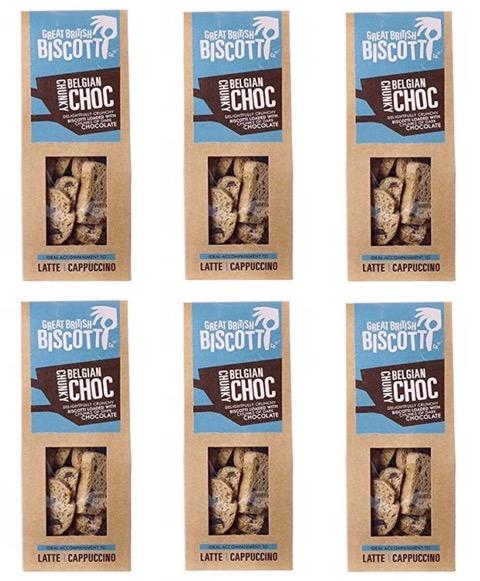 Artisan Belgian Chunky Chocolate Sweet Biscotti - 6 x 100g