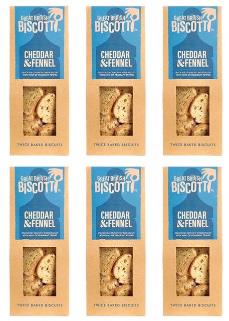 Artisan Savoury Biscotti Cheddar & Fennel - 6 x 100g