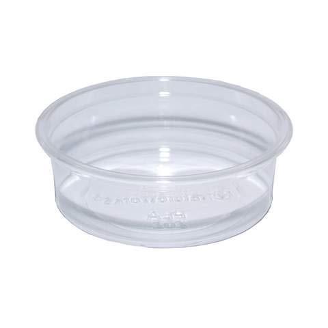 Compostable 2oz PLA Clear Sauce Pot 60ml