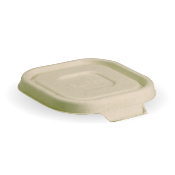 Compostable Natural Lid For 480mlml Takeaway Container Biodegradable