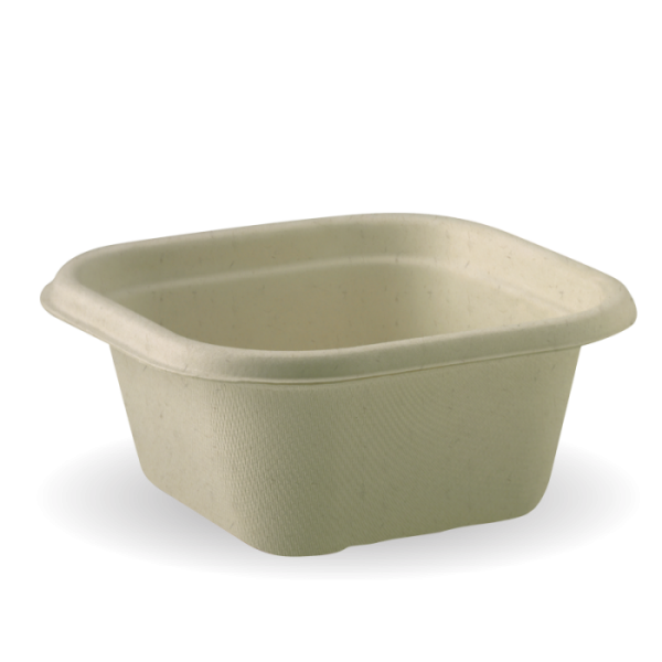 Compostable Natural 480ml Takeaway Container Base Biodegradable