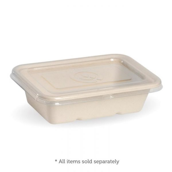 Compostable Natural 600ml Takeaway Container Base Biodegradable