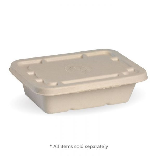 Compostable Natural Lid For 500ml / 600ml Takeaway Container Biodegradable