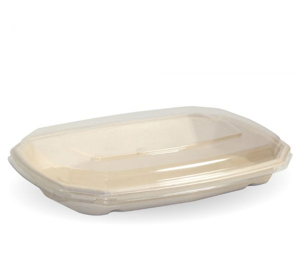 Compostable Natural BioCane 600ml Octa Takeaway Container and Lid Biodegradable