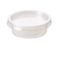 2oz PP Microwavable Clear Sauce Pot 120ml + PET Lid - Pack 1,000