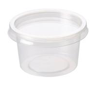 4oz PP Microwavable Clear Sauce Pot 120ml + PET Lid - Pack 1,000