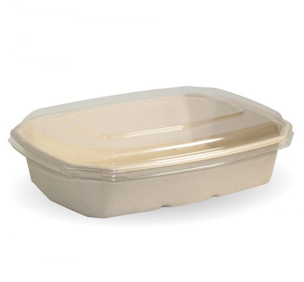 Compostable Natural BioCane 950ml Octa Takeaway Container and Lid Biodegradable