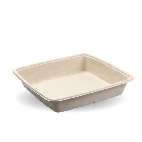 1400ml Natural Pac Square Food Trays
