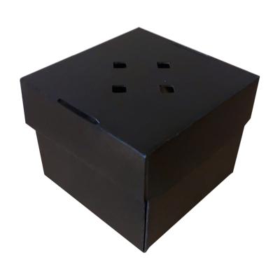 Compostable Premium Black Burger Box 122x122mm Biodegradable - Pack 100