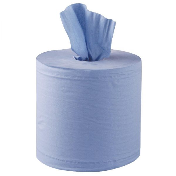 Centrefeed Blue 2ply Roll