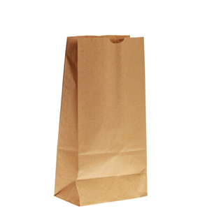 Compostable Brown Kraft SOS Block Bottom Grab Bag Without Handle 318x152x101mm - Pack 1,000