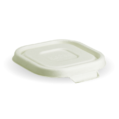 Compostable White Lid For 280, 480 and 630ml Takeaway Container Biodegradable