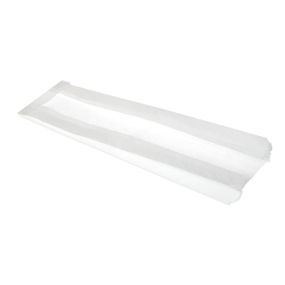 Film Front Baguette Bag 100x150x350mm White Compostable - Pack 1,000