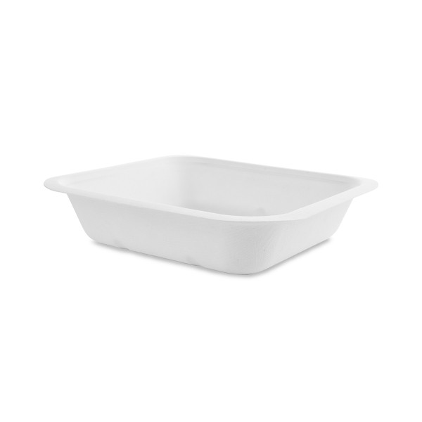 Vegware Compostable Sugarcane Gourmet Base Tray 195 x 180 x 43mm 22oz 650ml - Pack 600