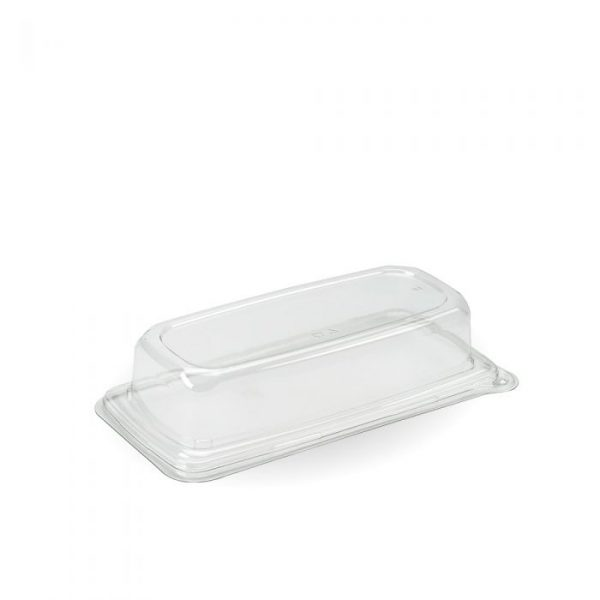 Sabert Lid RPET Clear for Natural Pac Grab and Go Rectangular Medium Tray 240 x 110mm - Pack 300