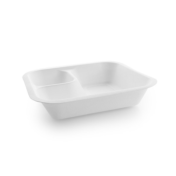 Vegware Compostable Sugarcane Gourmet Base with Dipping 195 x 180 x 40mm 18oz 550ml - Pack 600