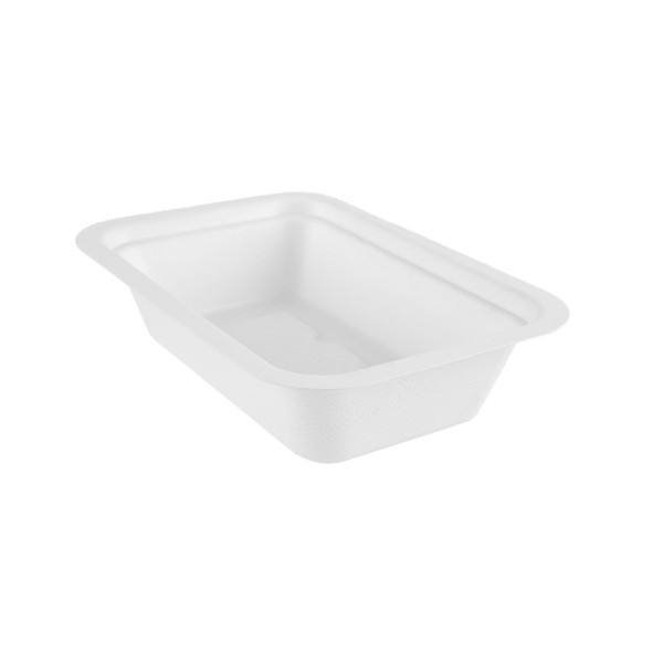 Vegware Compostable Sugarcane Gourmet Base Tray 190 x 130 x 45mm 16oz 500ml - Pack 600