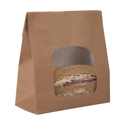 Kraft Laminated Sandwich Deli Bag 157 x 73 x 220mm - Pack 250