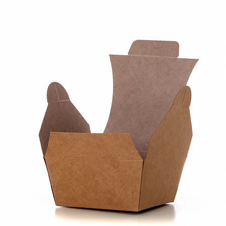 Contora Small Kraft Food Box 106/90 x 106/90 x 50mm - Pack 250