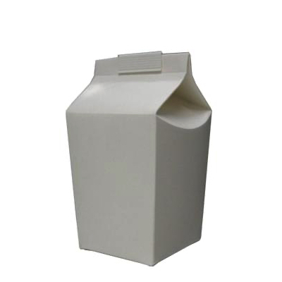 1 Pint White Disposable Hoppers Cartons - Pack 50