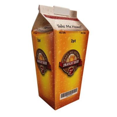 2 Pint Beer Disposable Hoppers Cartons - Pack 50