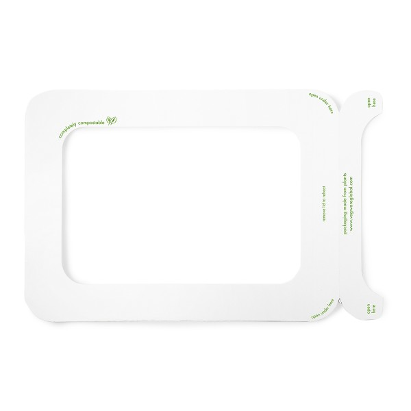 Vegware Seal Lid Window for Sugarcane Gourmet Base Tray Size 250x180mm - Pack 600