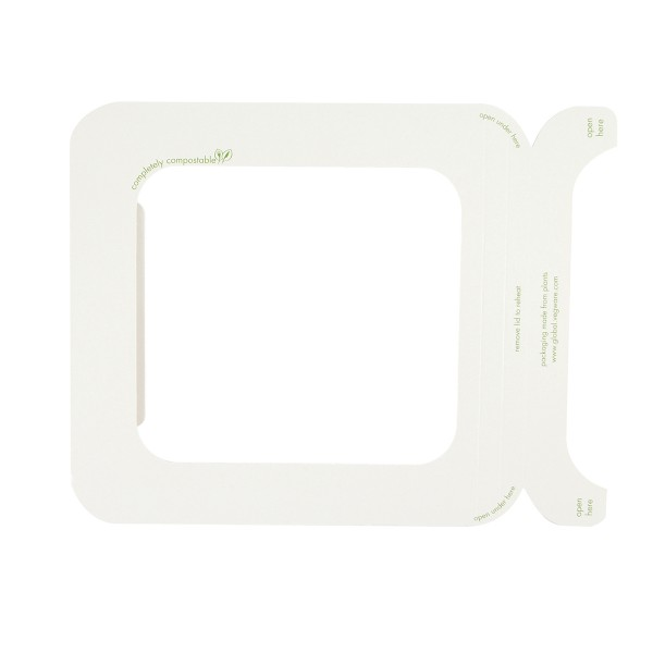 Vegware Seal Lid Window for Sugarcane Gourmet Base Tray Size 195 x 180mm - Pack 600