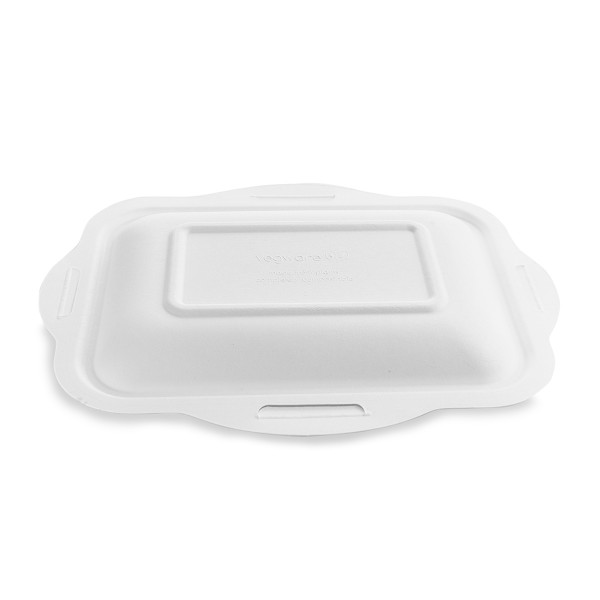 Vegware Lid Bagasse for Sugarcane Gourmet Base Tray Size 250 x 180mm - Pack 600
