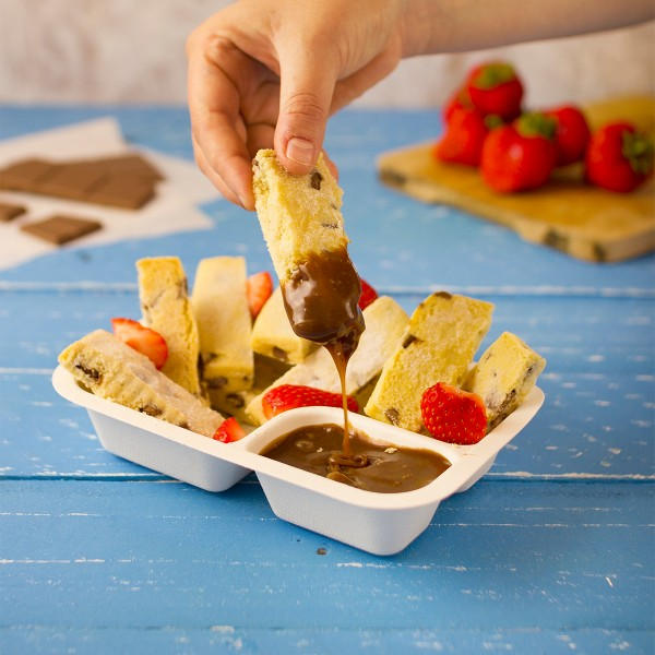 Vegware Compostable Sugarcane Gourmet Base with Dipping 190 x 130 x 35mm 12oz 360ml - Pack 600