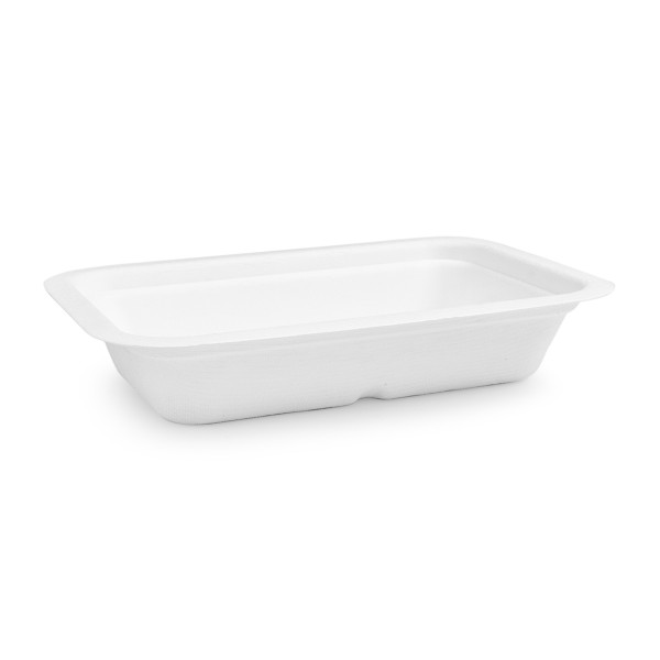 Vegware Compostable Sugarcane Gourmet Base Tray 190 x 130 x 35mm 12oz 360ml - Pack 600